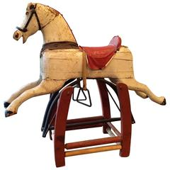 Antique Primitive Folk Art Rocking Horse