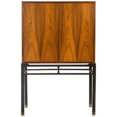 Jørgen Berg for Illums Bolighus, Rare Danish Rosewood Cabinet on Stand