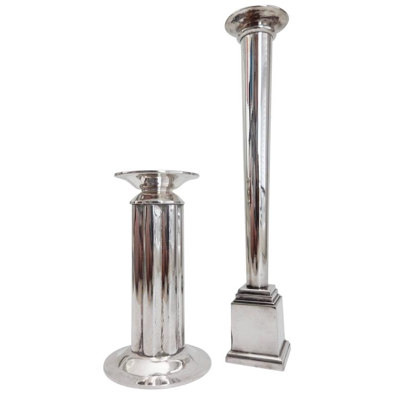 Postmodern Candlesticks Designed by Robert A. M. Stern for Swid Powell, 1980s