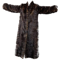 Vintage Full Length Mink Coat, circa 1980