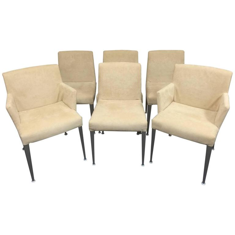 Set of six b b italia melandra dining chairs by antonio for B b italia dining room chairs