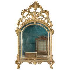 20th Century Italian Gilded Mirror in Louis XVI Style