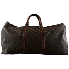 Louis Vuitton Vintage Monogram Keepall 55, Travel Duffel Bag