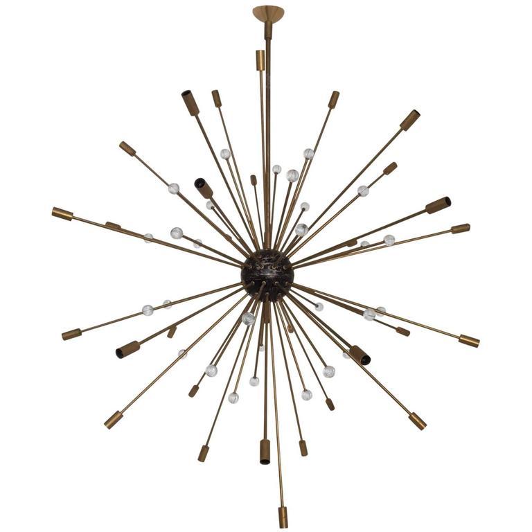 Important, Rare Oversized Sputnik Pendant Lights by Stilnovo, Italy, circa 1970s For Sale