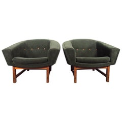 Pair of Lennart Bender Corona Easy Chairs by Ulferts Mobler