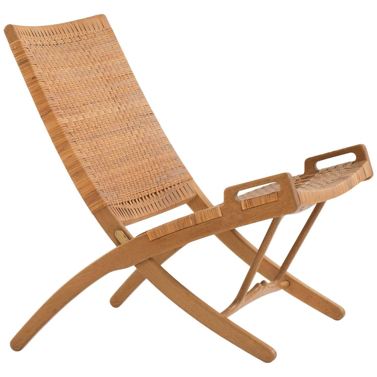 hans j wegner folding chair for johannes hansen for sale at 1stdibs. Black Bedroom Furniture Sets. Home Design Ideas