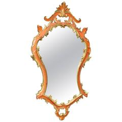 20th Century Florentine Painted and Gilded Mirror