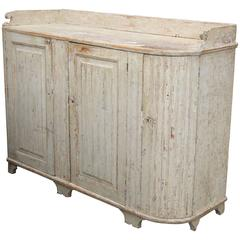 Swedish Gustavian Buffet Scraped to the Original Pale Green Paint, circa 1830