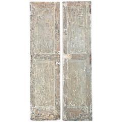18th Century Italian Original Painted Doors from Naples, Italy