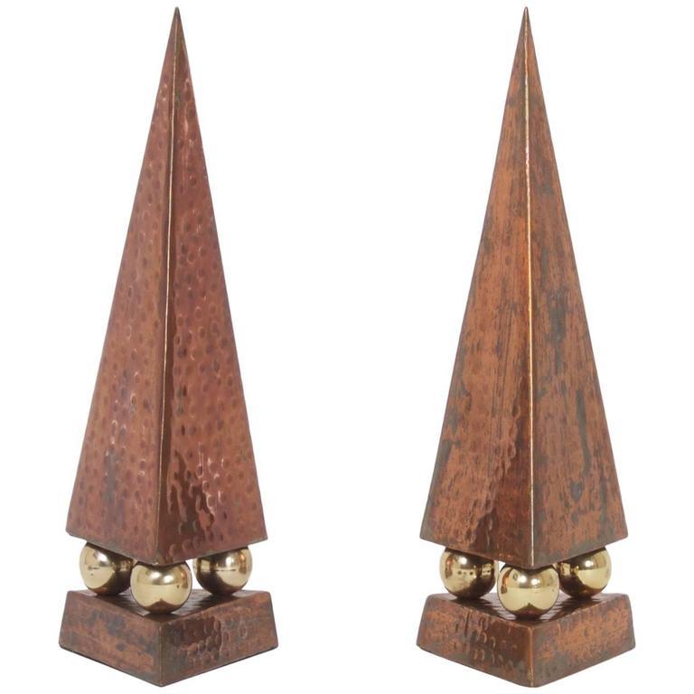 Pair of Mid-Century Obelisks
