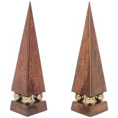 Pair of Mid-Century Obelisks