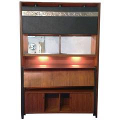 Osvaldo Borsani 1950s Bar Cabinet for Tecno in Rosewood