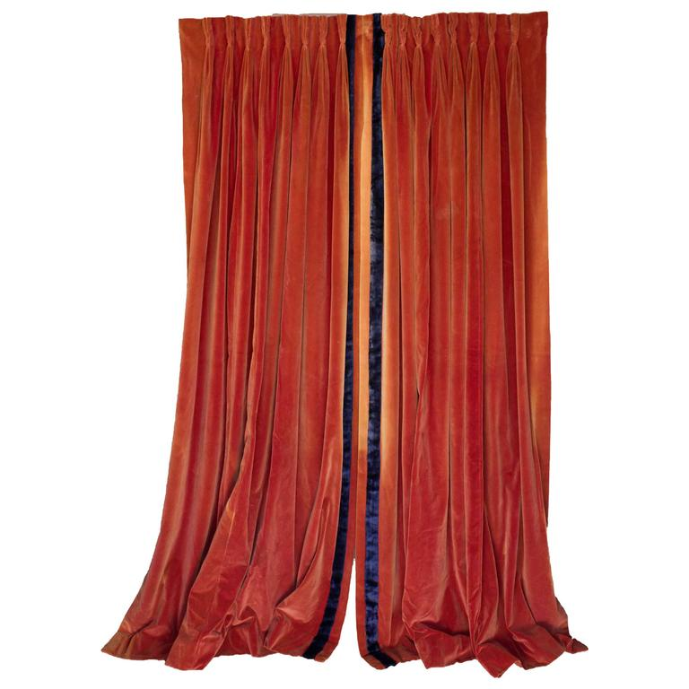 Navy Blue And Orange Curtains