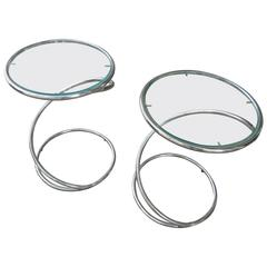 Leon and Irvin Rosen for Pace Chrome Spiral Tables