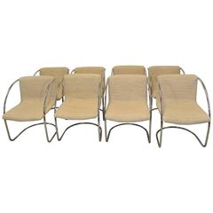 Mid-Century Modern Set of Eight Dining Chairs by Milo Baughman