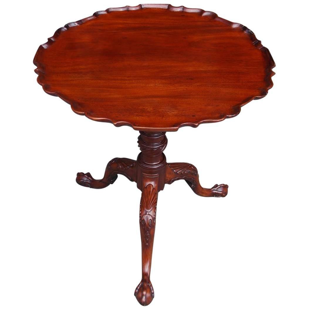 Scottish Mahogany Pie Crust Tilt-Top Tea Table, Circa 1760