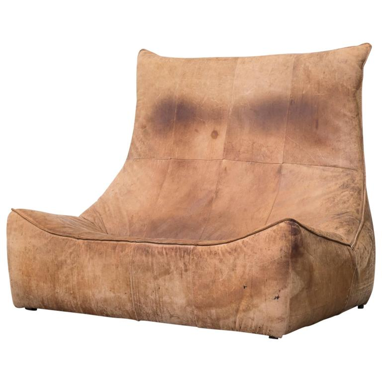 """The Rock"" Two-Seat Sofa by Gerard Van Den Berg for Montis"