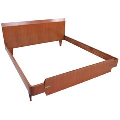 Mid Century Modern Italian Modern Bed Frame, Dassi Attributed