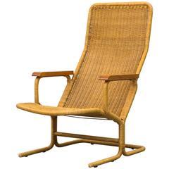 Dirk Van Sliedrecht High Back Lounge Chair with Cushion