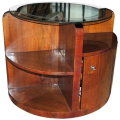 "Art Deco ""Secret"" Bar with Mirror Topped Table"