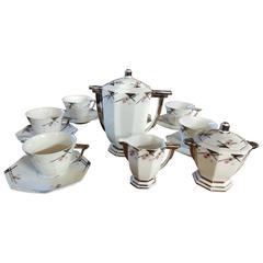 TLB Limoges Art Deco Coffee, Tea or Chocolate Set