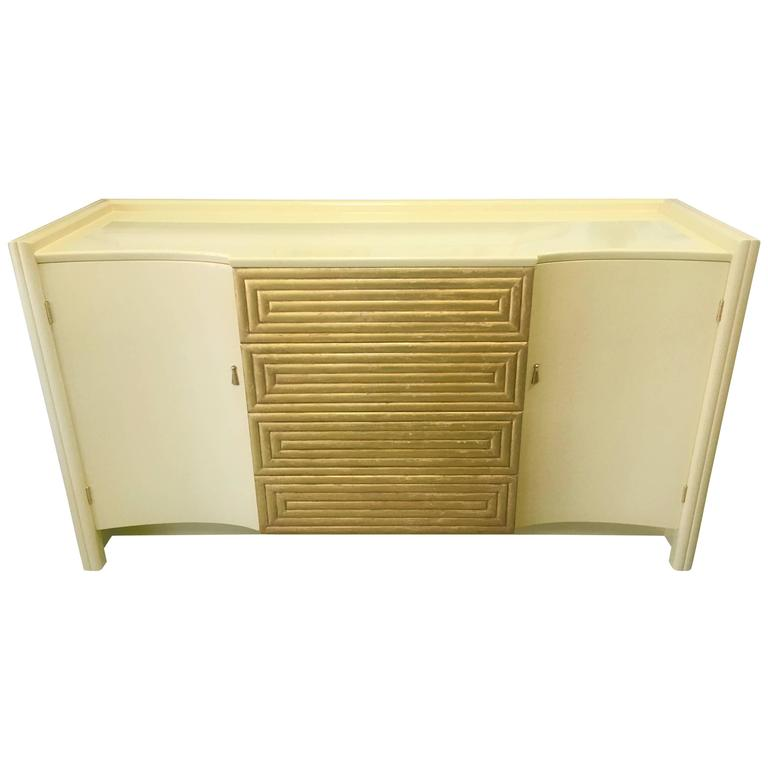 Rare Cream Lacquer Buffet by Johann Tapp for Gumps, circa 1940