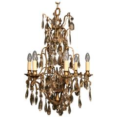 French Silver Birdcage Antique Chandelier