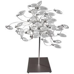 Contemporary Stainless Steel Lamp