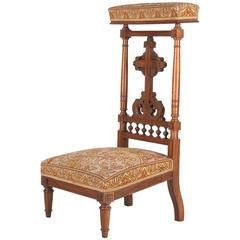 Napoleon III Period Upholstered Prie Dieu Chair, 1870s
