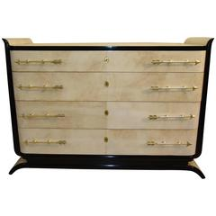 Exclusive Parchment Art Deco Dresser