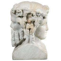 Carved Bust of the God Janus