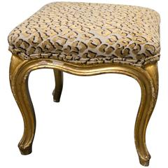 Giltwood 19th Century English Foot Stool