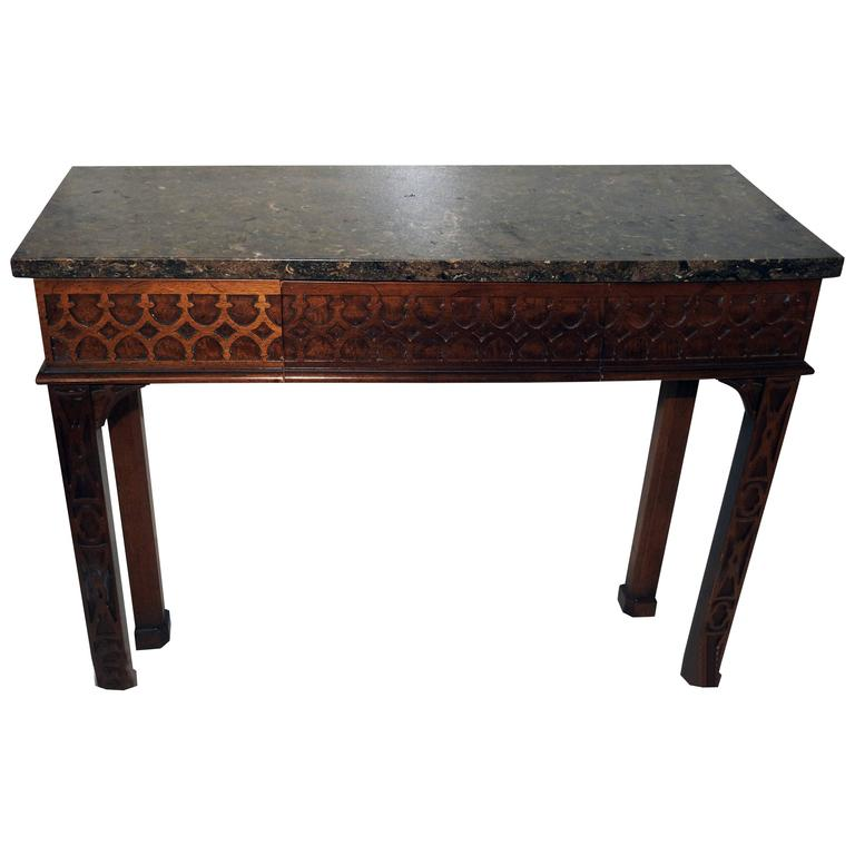 Wallace Nutting By Drexel Granite Top Console Table At 1stdibs