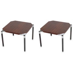 """Pair of Side Table """"Urio"""" by Ico Parisi for MIM, Signed"""