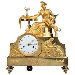 Empire Ormolu Figural Mantel Clock Fidelity