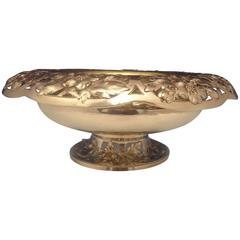 Gorham Sterling Silver Centerpiece Bowl with Wide Pierced Border, Hollowware