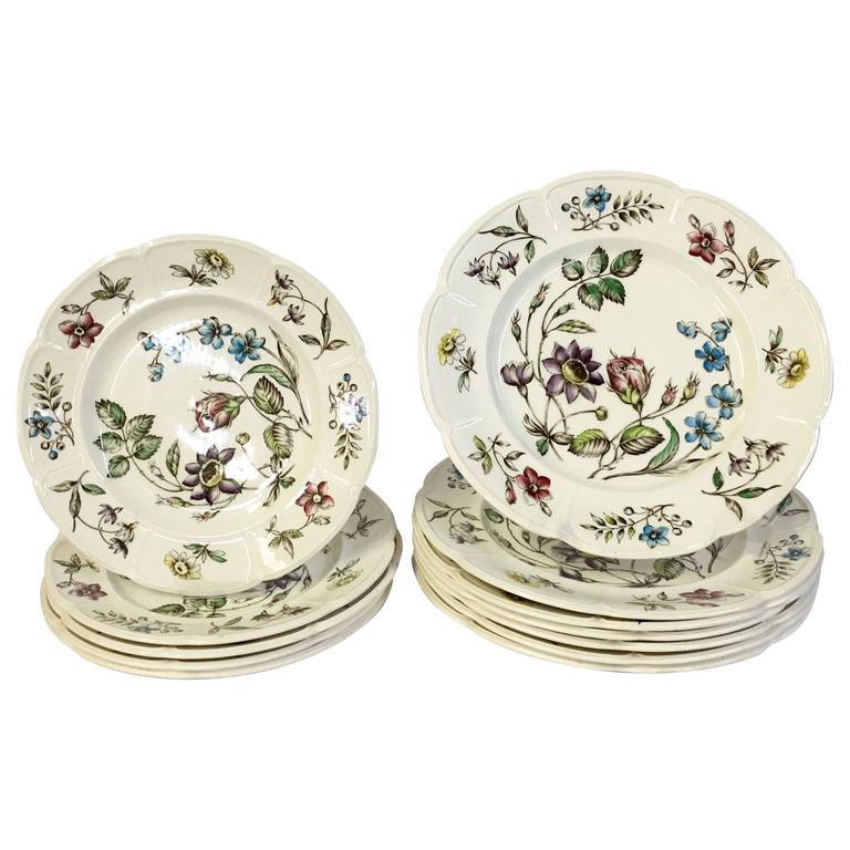 1950s S 13 English Windsor Ware Quot Wakefield Quot Plates By