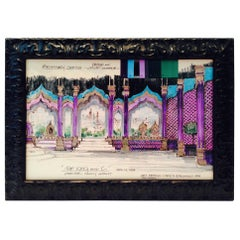 "1994 Pencil Drawing Set Design ""the King and I"" by, Mary N. Balcomb"