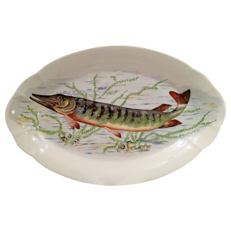 Antique french limoge fish serving platter at 1stdibs for Fish serving platter