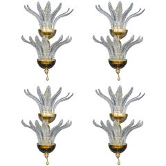 Set of Four Murano Glass Sconces