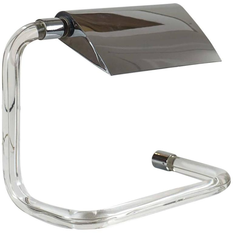 Crylicord Lucite Desk Lamp