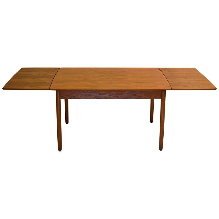 Danish Teak Dining Table With Extension Leafs By Scandinavia Woodworks Co Fo