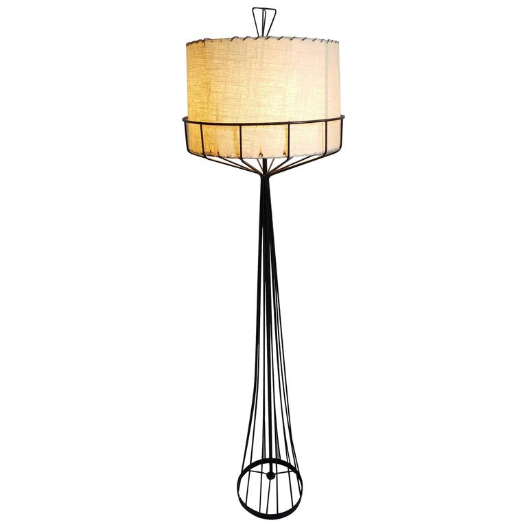 Tony Paul Floor Lamp From The Wire Series Mid Century Modern For