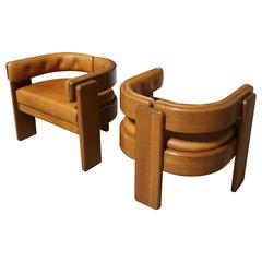 Pair of Lounge Chairs by Risom/Marble