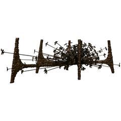 Brutalist Sculptural Coffee Table by Daniel Gluck