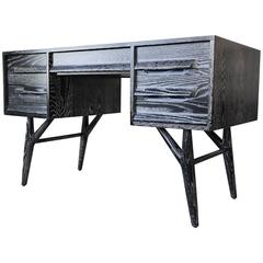 Black Cerused Desk by Jack Van Der Molen