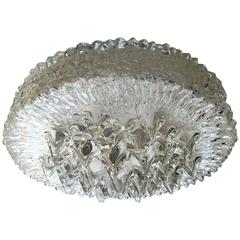 Limburg Glass 1960s Flush Ceiling Light