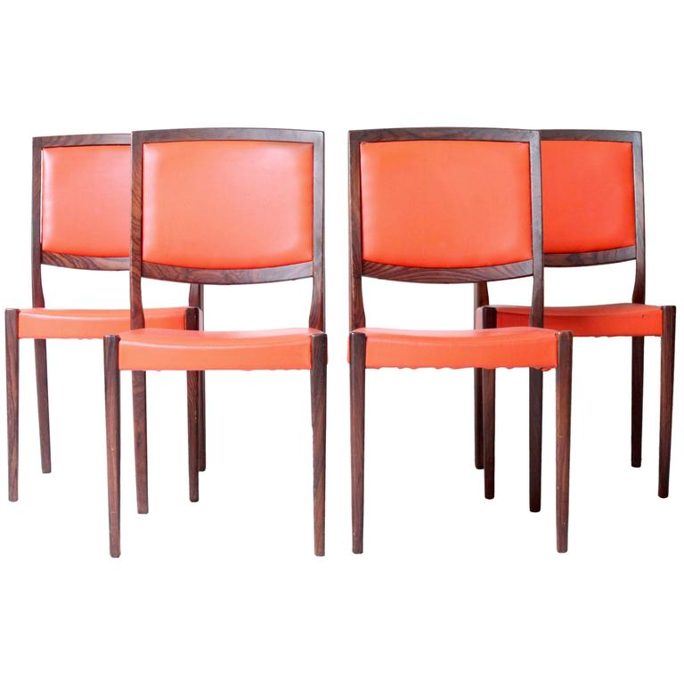 Swedish Rosewood Dining Chairs By Svegards At 1stdibs