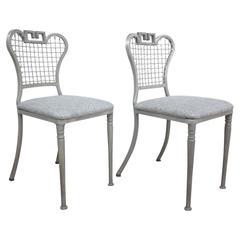 Pair of Regency Style Aluminium Chairs