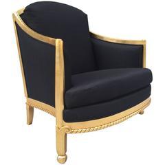 Italian Giltwood Sculptural Lounge Chair